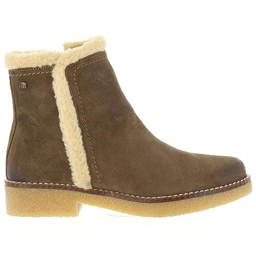 Botines de Mujer MTNG 97233 C33686 Serraje Taupe: Amazon.es: Zapatos y complementos