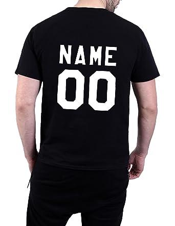 da0539db09e7 Amazon.com  Sherrylily Mens Custom Numbers T Shirt Personalized Number  Graphic Short Sleeve Shirt  Clothing