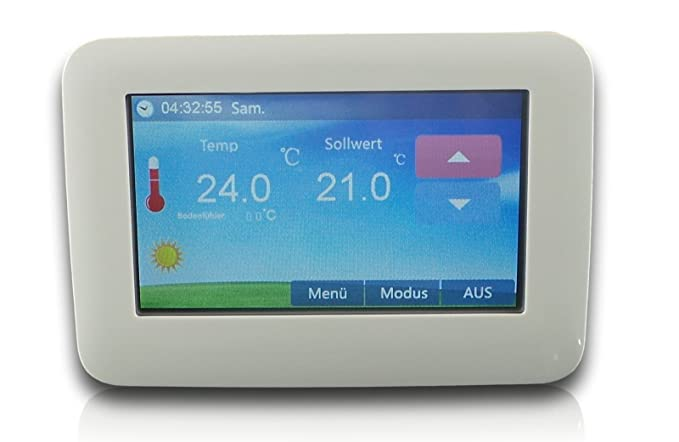 SM-PC®, Raumthermostat Thermostat programmierbar Touchscreen LED ...
