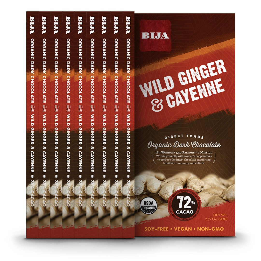 CDM product Bija Chocolates, Cayenne/Wild Ginger, 3.17 Ounce (Pack of 10) big image