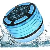 Altoparlante Bluetooth Impermeabile da Doccia Speaker Stereo con Microfono Incorporato Radio FM LED illuminazione per Doccia/Bagno/Casa/Esterno per iPhone e Smartphone Android e Tablet PC