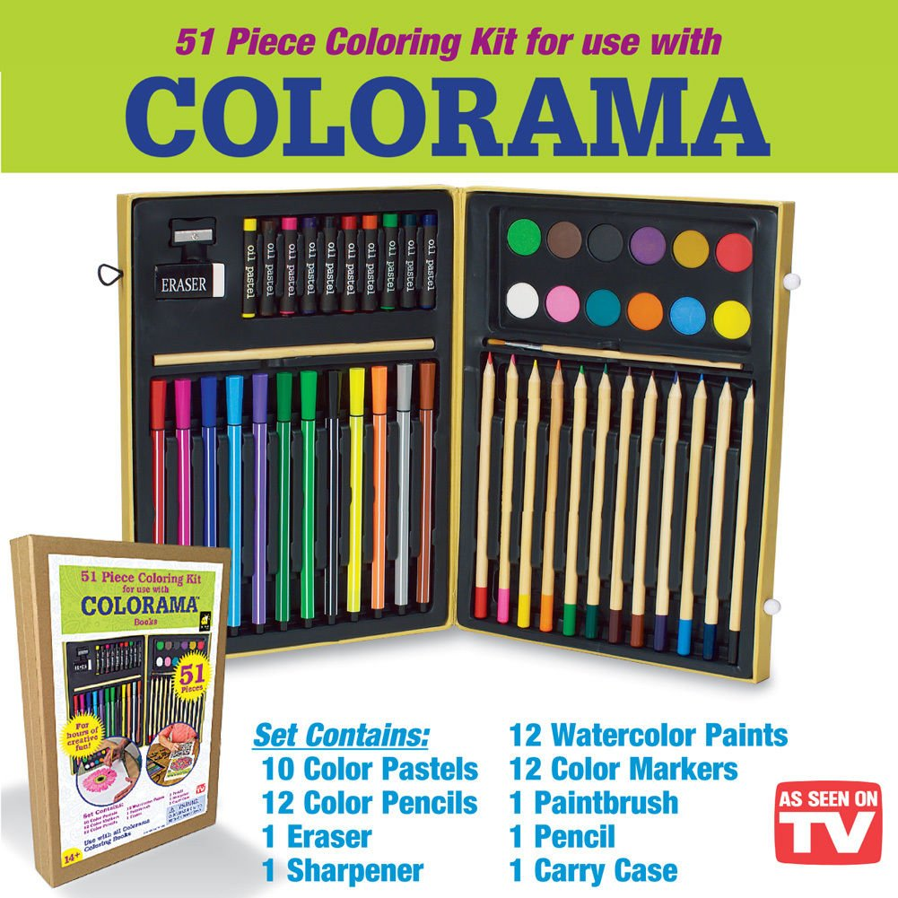 Amazon Colorama 51pc Color Kit Arts Crafts Sewing