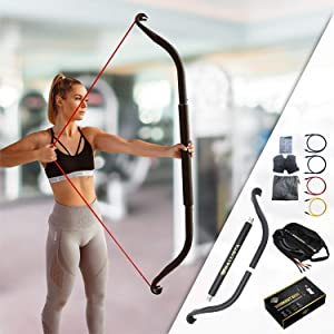 Ballista Bow: Workout Bow - Portable Home Gym Resistance Bands Fitness Equipment System, Weightlifting Training Kit, Full Body Workouts, Portable Upper Body Workout Equipment