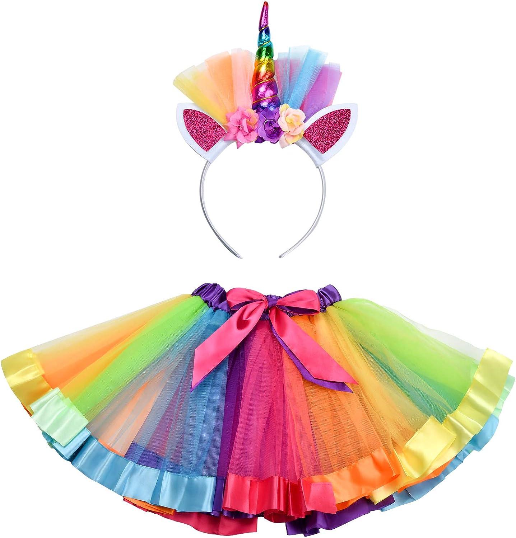 Cute Beauty Girls Tutu Rainbow  Kid Dresses Skirts Clothes Princess Wedding Part