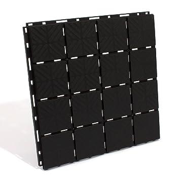 Zanvic Pack de 9 baldosas plástico de 40 x 40 x 2 cm Negro ZA527: Amazon.es: Jardín