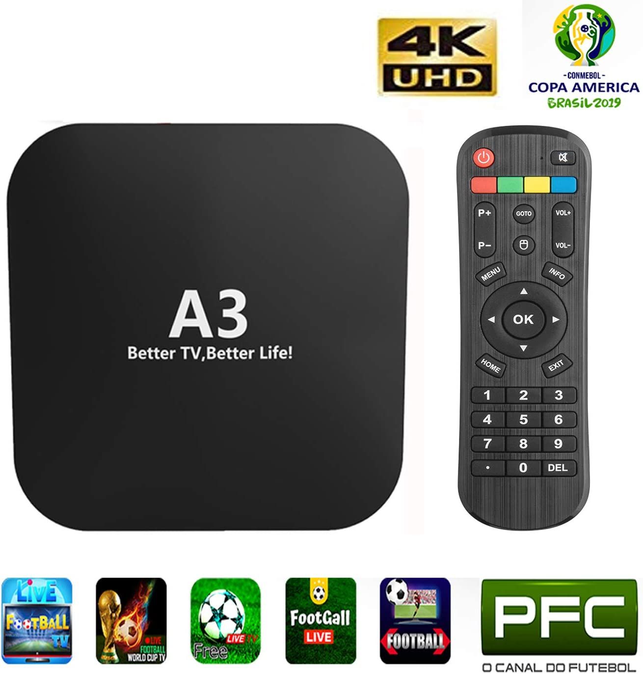 2019 Newest IPTV Brazilian A3 Box Better Than IPTV 8 Based on A2 HTV5 IPTV 5 6 Newest Upgraded Brazil Box with 250 Live Brazilian Channels and Massive Movies Dramas Films