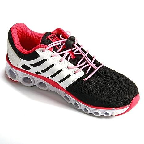 Xcellent Global Par de cordones elásticos de cierre rápido para zapatillas para la maratón y triatlón