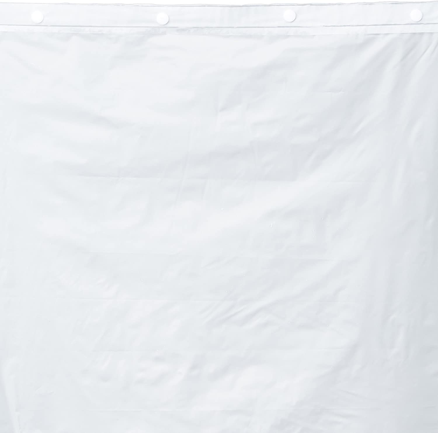 Hookless RBH14BS01 Polyester with PEVA Snap-in Shower Curtain Liner, Bright White, 70 x 54