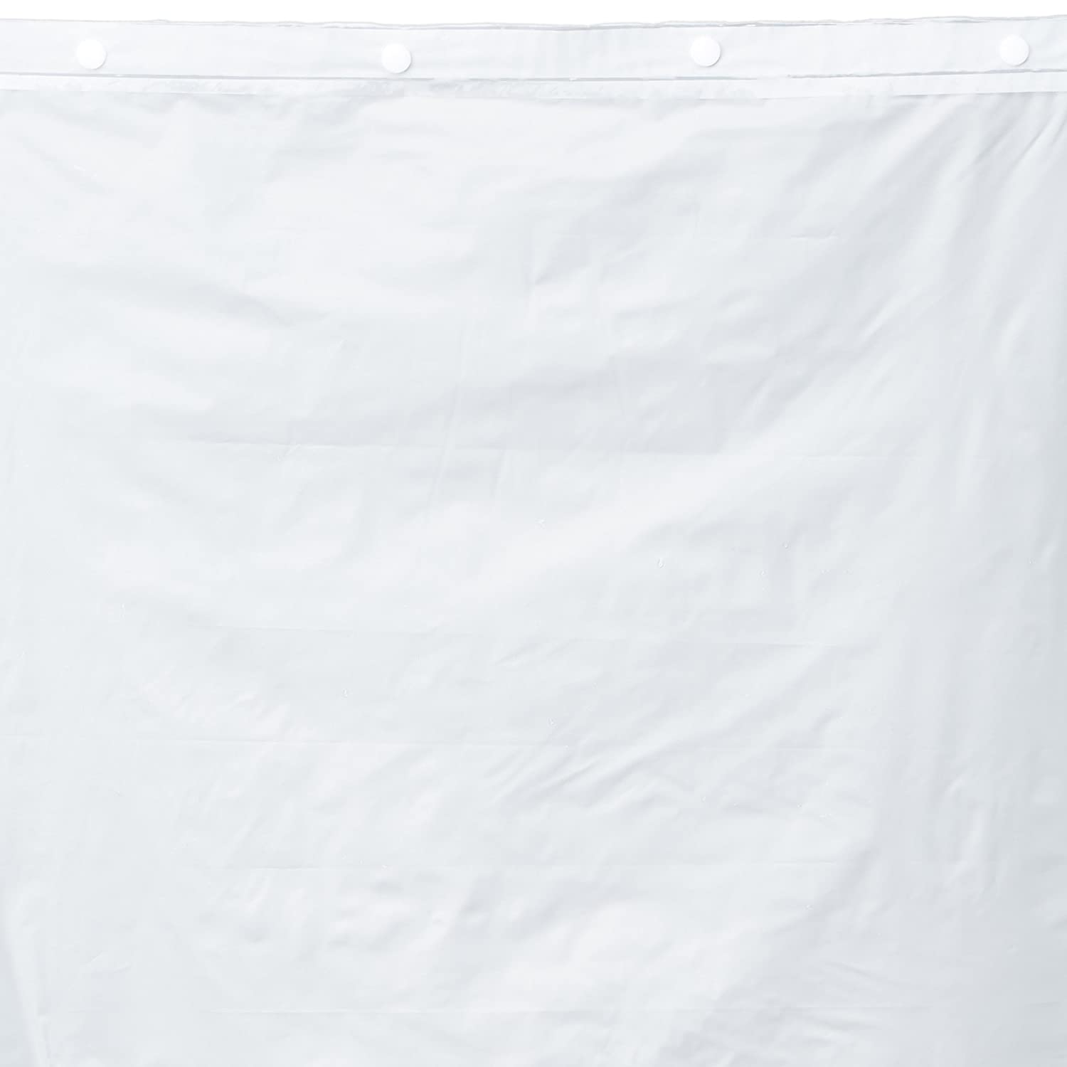 Hookless RBH40BBS01 Polyester Snap-In Shower Curtain Liner and Flex-On Rings, Bright White Arcs & Angles Inc.