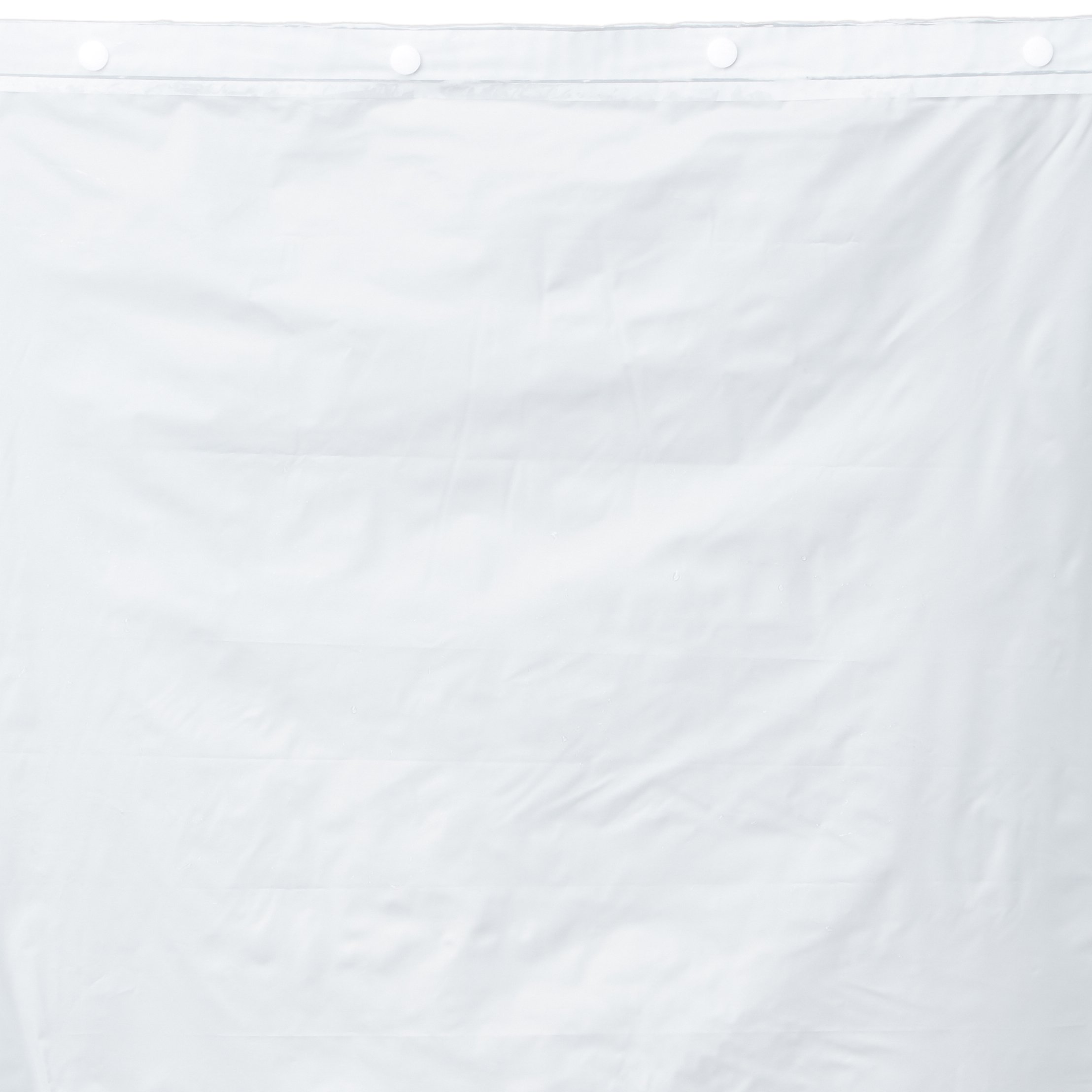 Hookless RBH14HH12 Polyester with PEVA Snap-In Shower Curtain Liner, Bright White