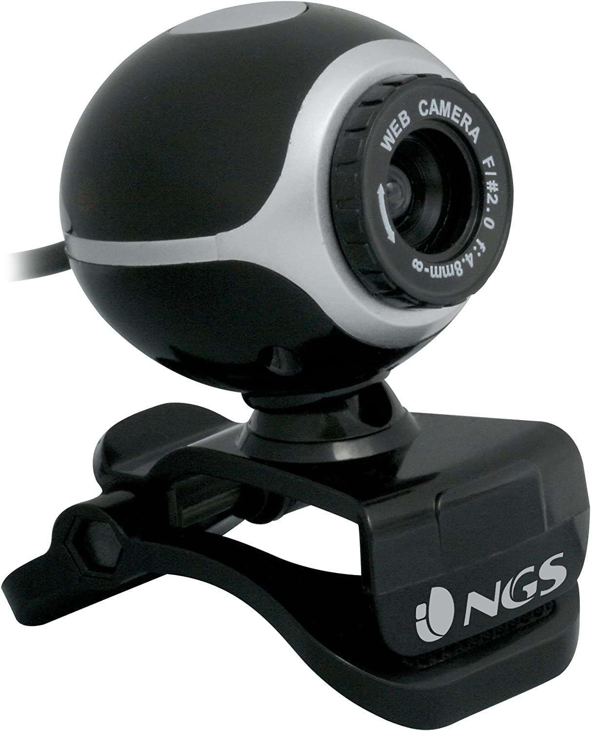 Webcam Usb Con Micro Inc Sensor Cmos 300k Ngs Xpresscam 300 Cap Imagen Video Zoom Color Negro Ngs Amazon Es Informática