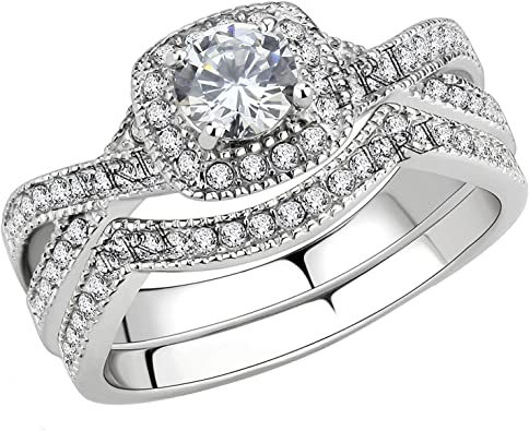 Amazon Com Flamereflection Stainless Steel Rings For Women