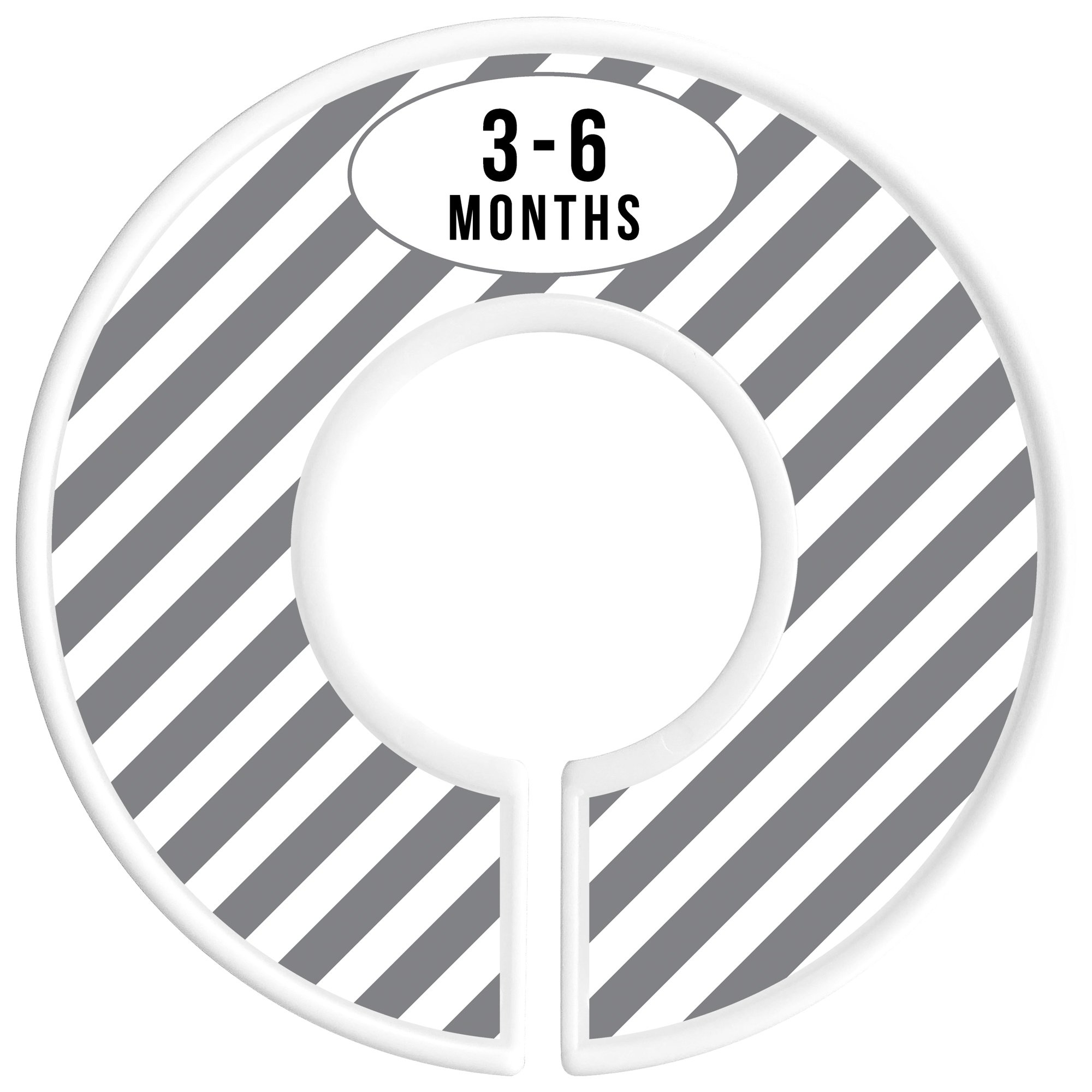 Delicush Baby Closet Dividers, Stripe, Chevron, Set of 6 Size Organizers, Nursery Closet Organizers, Baby Size Dividers, Glossy Finish, Boy, Girl (Grey) by DELICUSH (Image #4)
