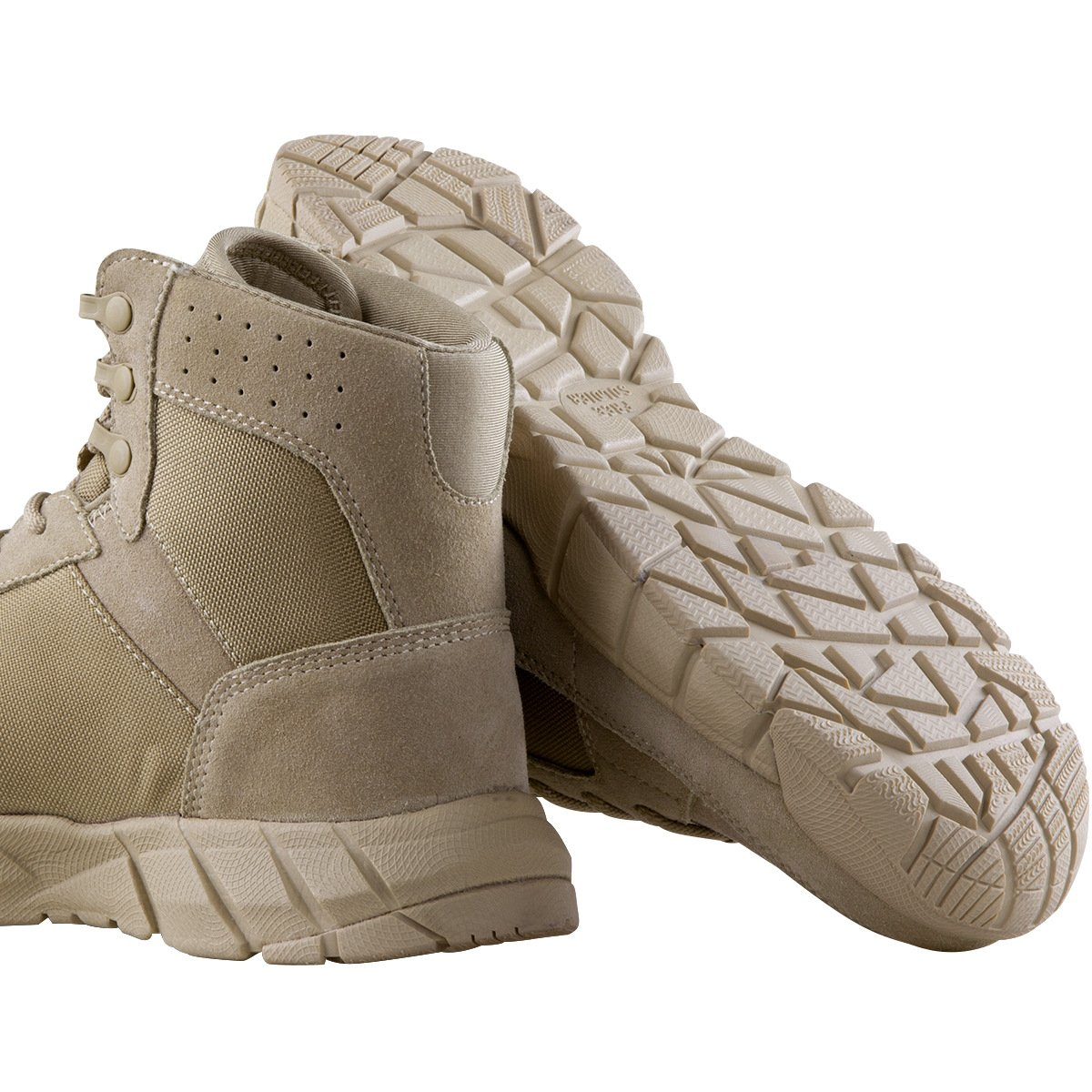 FREE SOLDIER Men's Tactical Boots 6'' inch Lightweight Military Boots for Hiking Work Boots Breathable Desert Boots (Tan, 7) by FREE SOLDIER (Image #2)