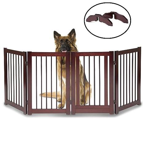 Valla para puerta de mascota de perro, 76,2 cm de alto x 203 ...