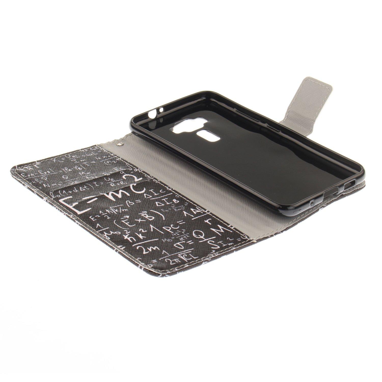 Cover ASUS Zenfone 3 ZE520KL - LOTXI27756 #2 ZE520KL Lomogo Custodia Portafoglio in Pelle Porta Carta di Credito con Chiusura Magnetica per ASUS Zenfone3