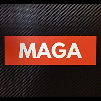 0de0b862871 Image Unavailable. Image not available for. Color  MAGA Sticker BOX LOGO  Decal Donald Trump Custom Vinyl ...