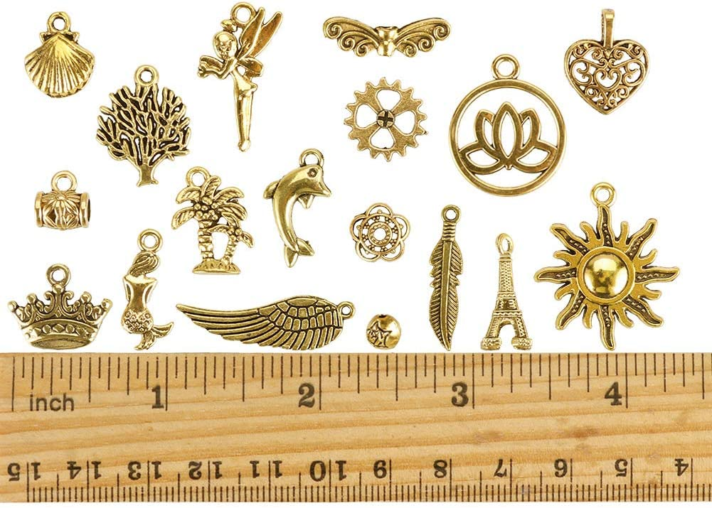 Mixed Antique Gold Charms Pendants for DIY Necklaces Bracelets Jewelry Making Supplies JuanYa 120Pcs Charms for Jewelry Making Wholesale Bulk