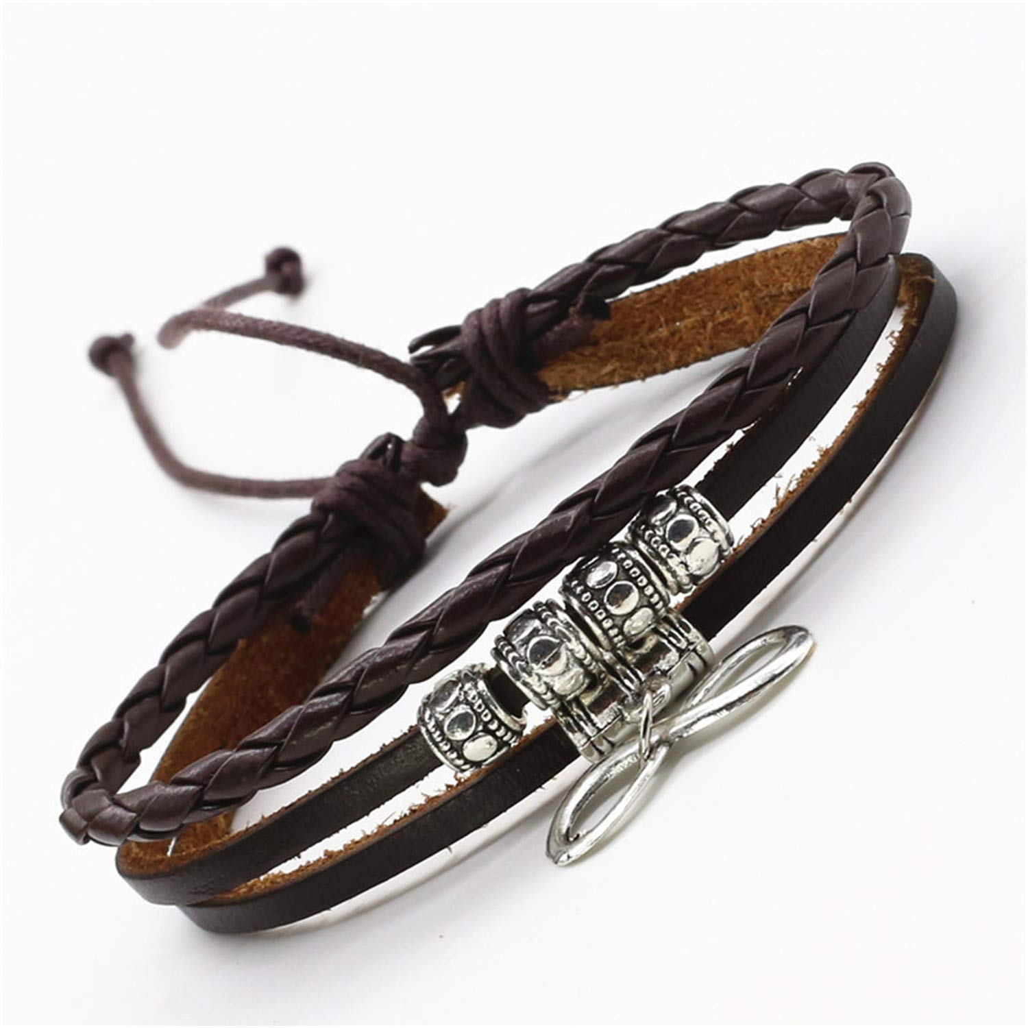 liberalism Casual Leather Bracelet for Women Jewelry Vintage Wings Charm Femme Homme Multilayer Handmade Men Jewelry Christmas