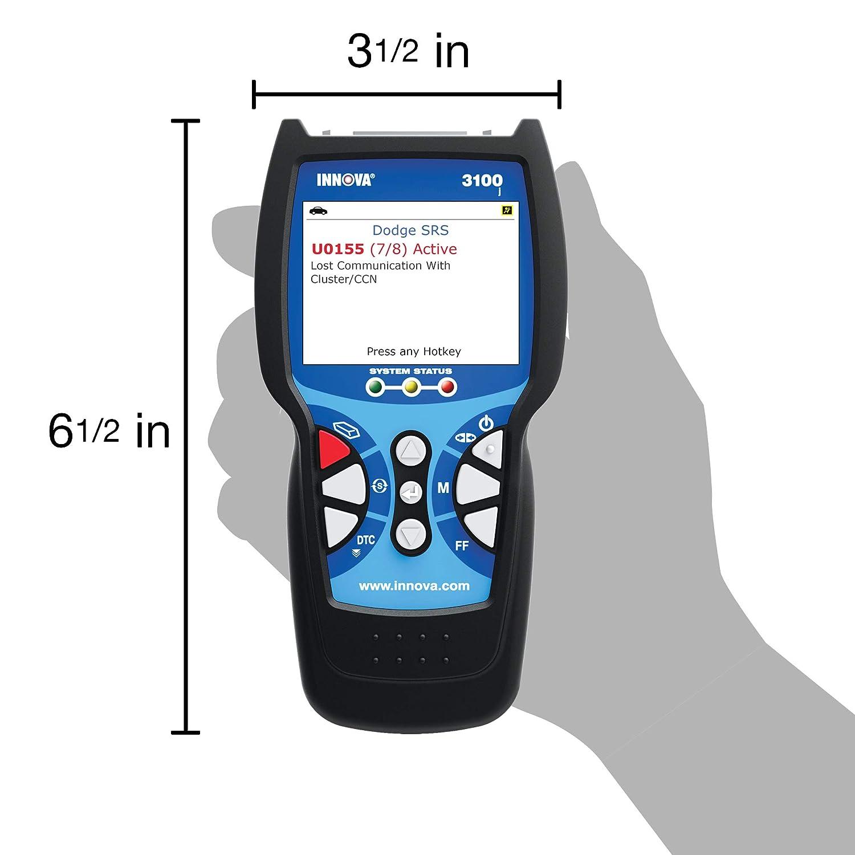 Amazon.com: Innova 3100j CanOBD2 Diagnostic Tool & ABS Color Screen W/SRS &  Oil Light Reset: Automotive