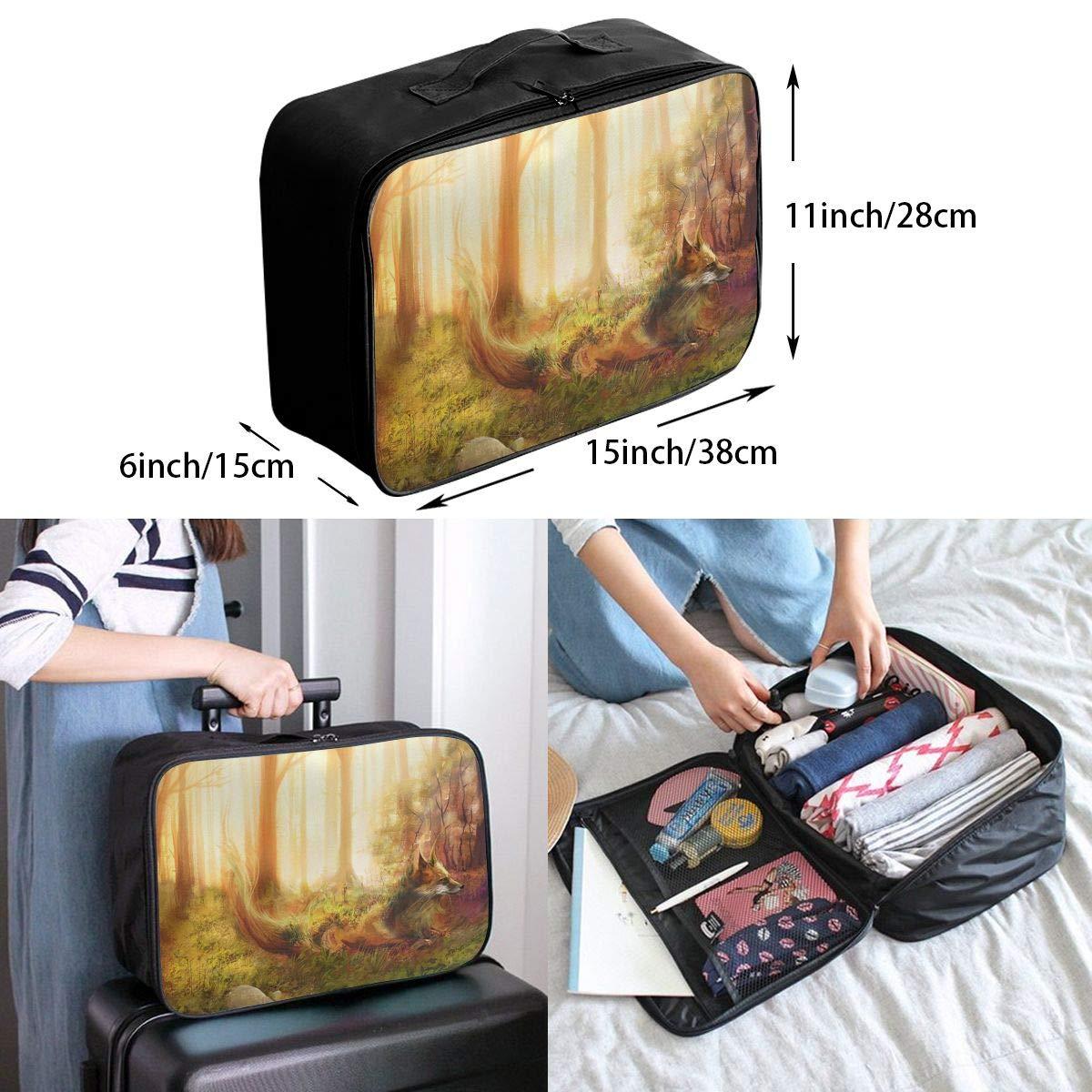Travel Luggage Duffle Bag Lightweight Portable Handbag Fox Forest Large Capacity Waterproof Foldable Storage Tote