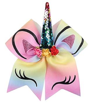 Rainbow Hair Bow Bobbles Hairband Multicoloured Fabric Headband Unicorn Dress