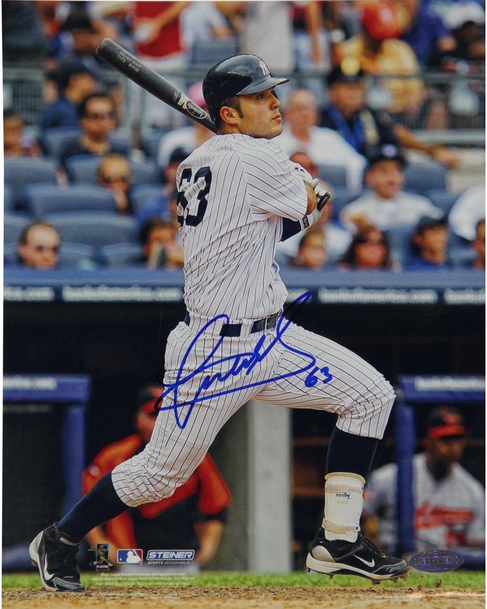 MLB New York Yankees Jesus Montero Autographed Second Career Homerun Vertical 16x20 Photo
