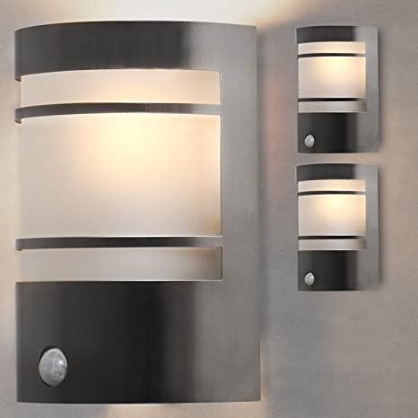 Jago - Lámpara con sensor de movimiento, iluminación de exteriores - B hasta E –