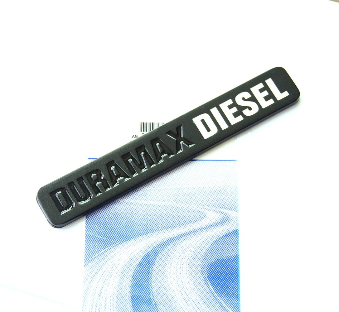 Yoaoo 3x OEM Matte Black Duramax Diesel Allison Truck Emblem Badges SILVERADO 2500 3500 HD GMC SIERRA Matte Black White 23172681