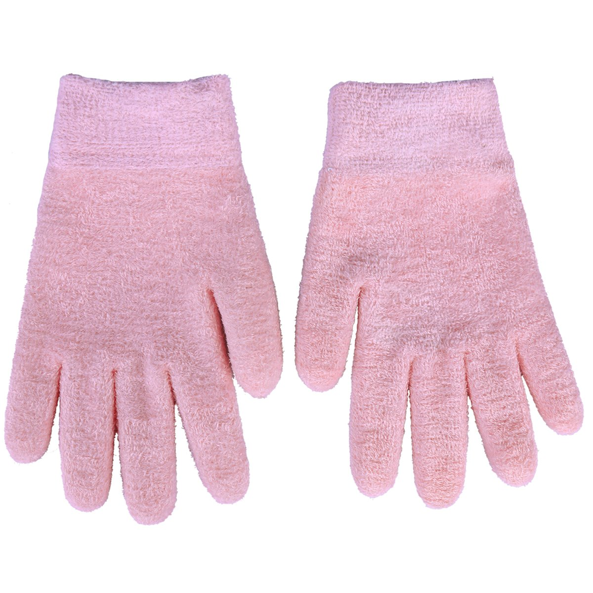 xhorizon FL1 2 Pairs Gel Moisturizing Spa Gloves Soft Cotton with Thermoplastic Gel Repair Heal Eczema Cracked Dry Skin