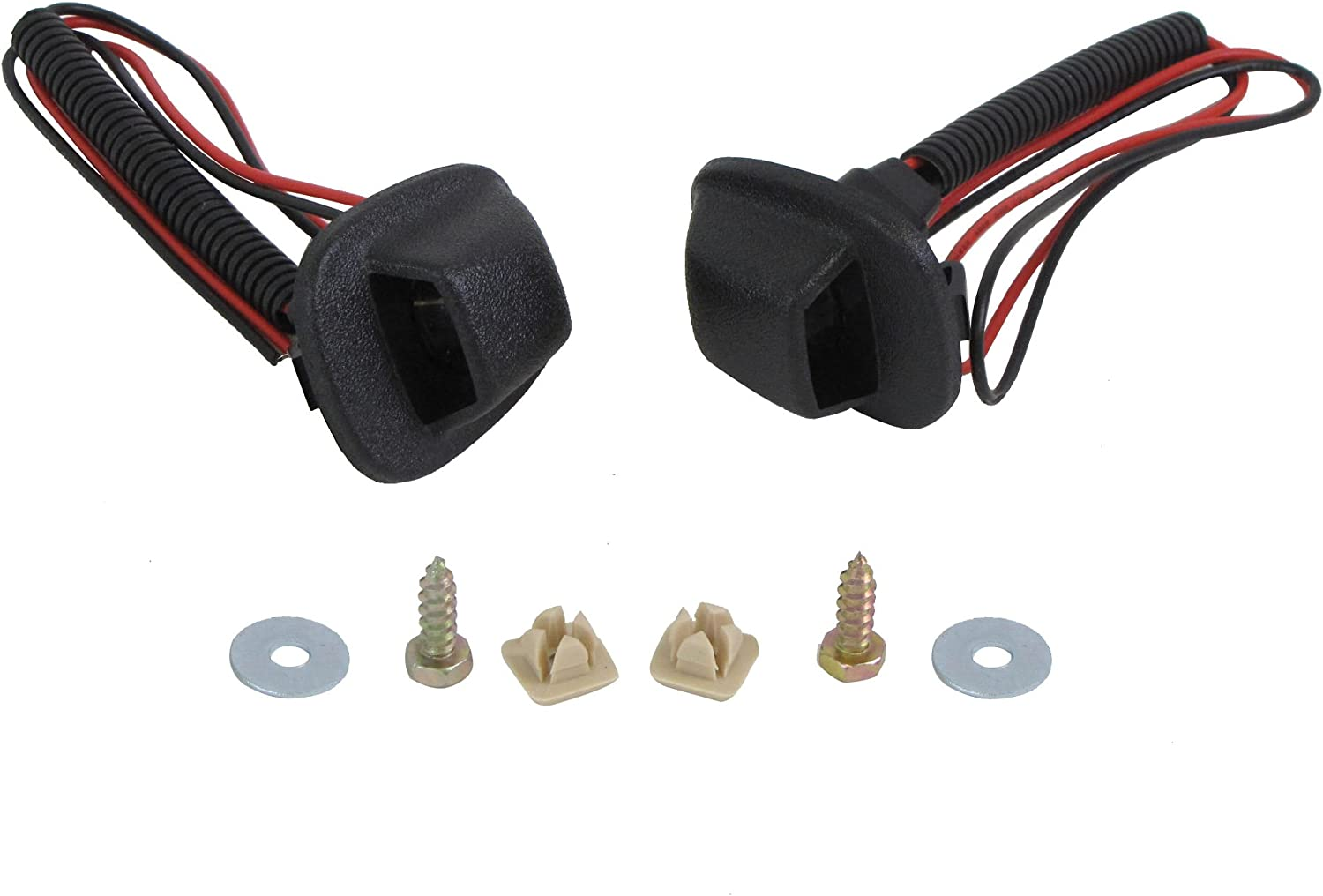 For 98-04 FRONTIER REAR STEP BUMPER LICENSE LIGHT KIT WITH LENS , BULB /& CABLE , SCREWS
