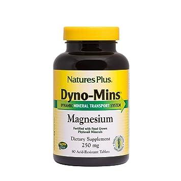 Natures Plus Dyno Mins Magnesium - 250 mg, 90 Vegetarian Tablets, Acid Resistant -