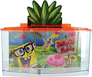 Penn-Plax Spongebob Betta Goldfish Fish Tank, Red (SBK108)