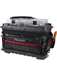 Plano Tackle Storage, KVD Signature Series 3700 Size Tackle Bag, Includes 5 Stowaway Tackle Storage Boxes, No-Slip Molded...