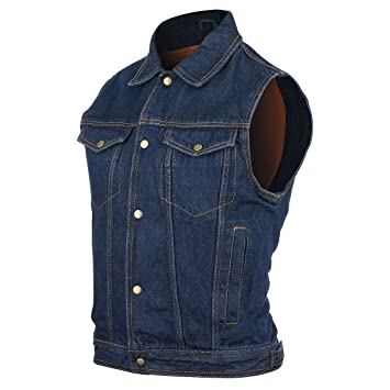Amazon.com: Mens Blue Denim Jean Vest 2XL: Sports & Outdoors
