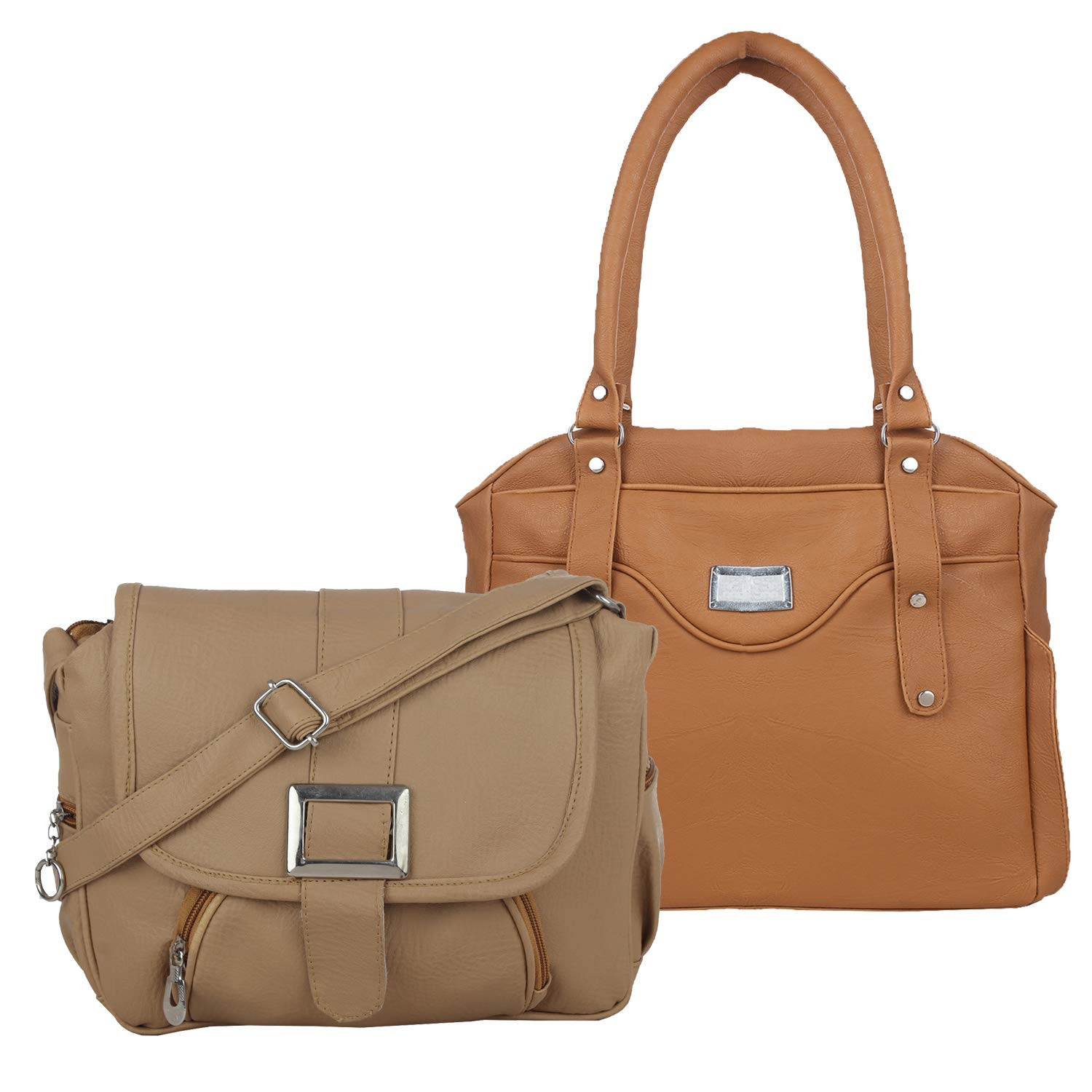 f7412f0600 Fillincart Women Beige and Brown Colour PU Material Pack of 1 Hand Bag and  1 Sling Bag  Amazon.in  Shoes   Handbags