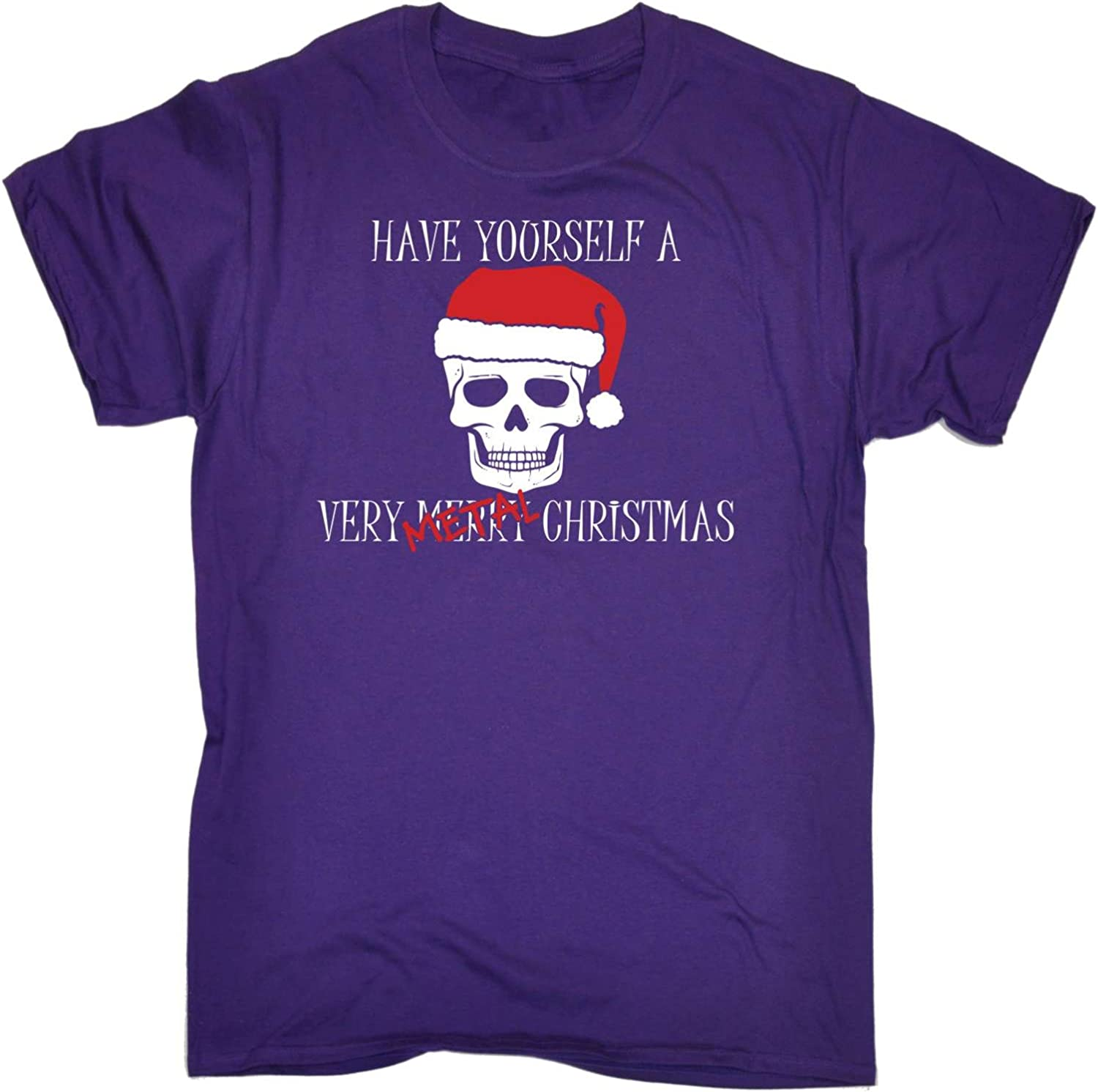 Have Yourself A Very Metal Christmas Funny Novelty T-Shirt Mens tee TShirt
