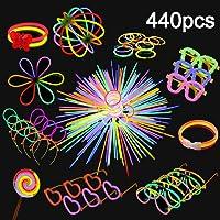 Yidaxing Pulseras Luminosas de Fiesta Colores con Conectores