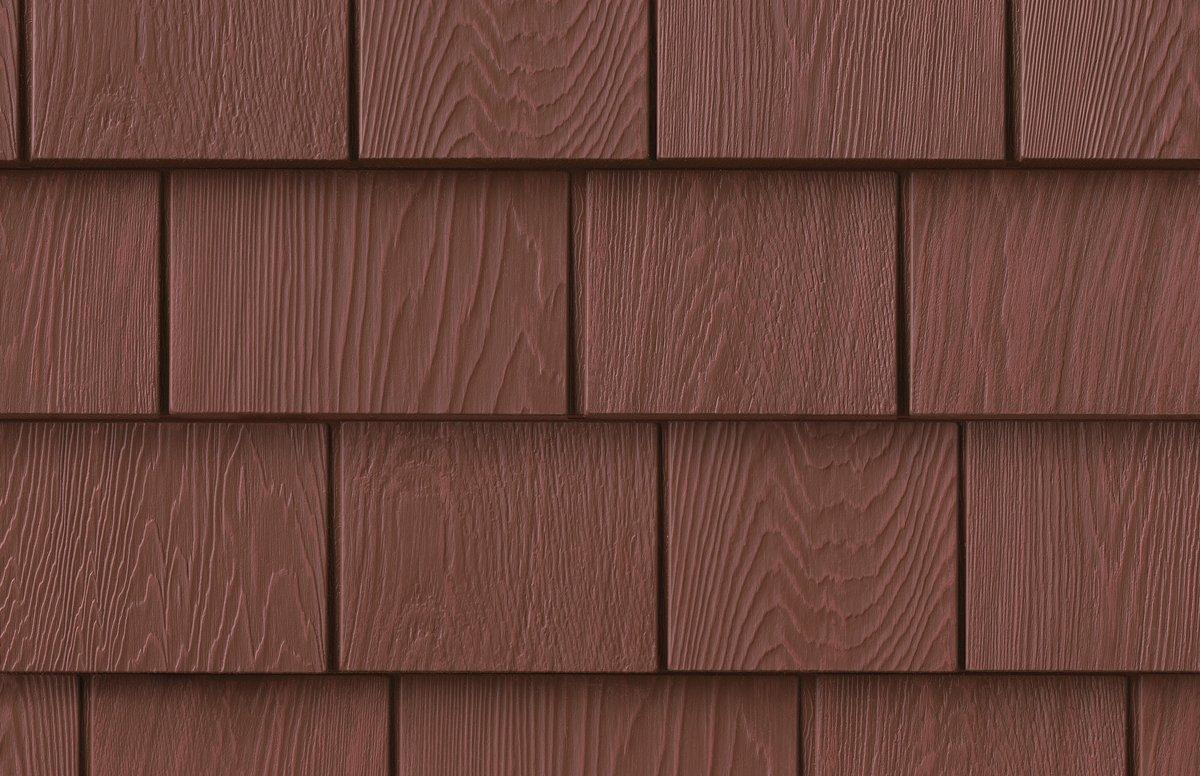 Grayne 6-1/2 in. x 60-1/2 in. Homestead Red Engineered Rigid PVC Shingle Panel 5 in. Exposure (24 per Box)