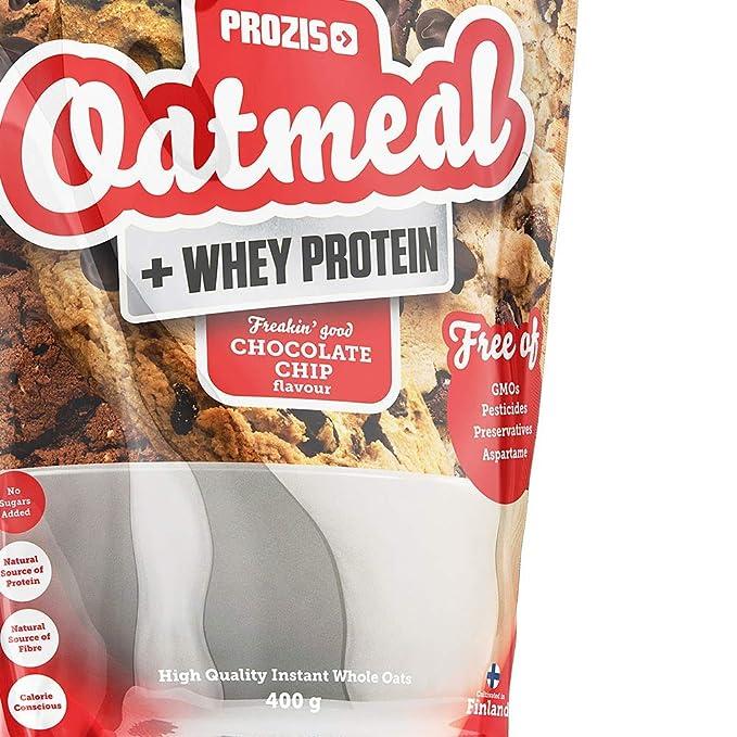 Prozis Oatmeal y Proteína de leche, Pepitas de chocolate - 400 gr ...