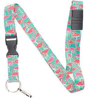 Flamingo Break Away Lanyard Key Chain Id Badge Holder