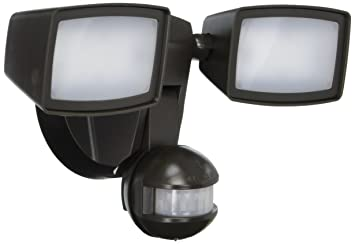 All Pro Outdoor Security MST1850L 1000 Lm LED Twin Head Dual Position 180  Motion Security Light