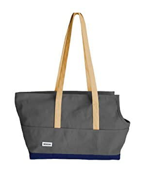 8570e1f35d25a DEXDOG Portable Travel Pet Carrier Canvas Comfortable, Soft Sided, Tote  Carrier Bag for Small Dog & Cat | Ideal for Shopping, Outdoor Hiking,  Walking, ...