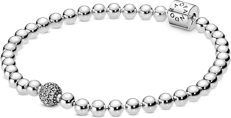 Pandora 598342CZ - Pulsera para mujer Beads & Pavé