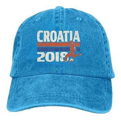 Croatia Football 2018 Adult Cowboy Baseball Gorras Denim Sombreros ...