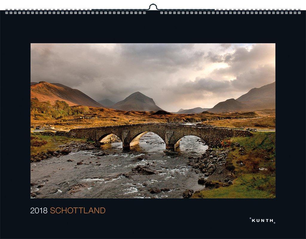 Schottland 2018: Kalender 2018 (KUNTH Wandkalender Black Edition)