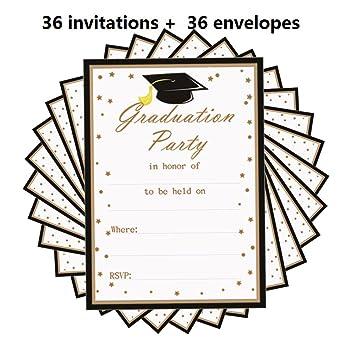 Amazon 2018 graduation party invitations card 36pcs with 2018 graduation party invitations card 36pcs with envelopes5 x 7 filmwisefo