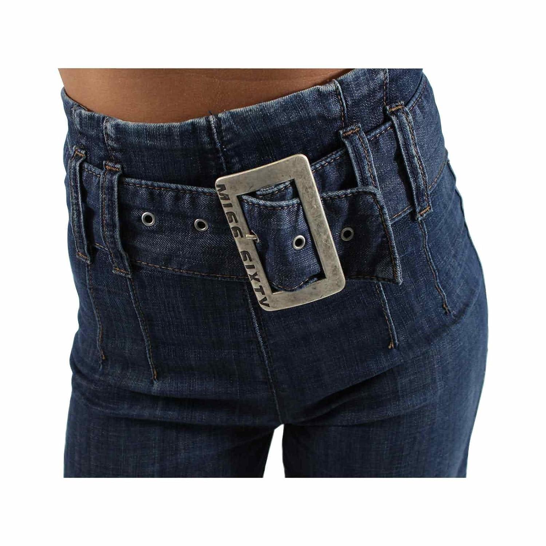 Durchsuchen Sie die neuesten Kollektionen Online bestellen Modestil von 2019 MISS SIXTY Damen Hose GANG TROUSERS in Dunkelblau Größe 27 ...