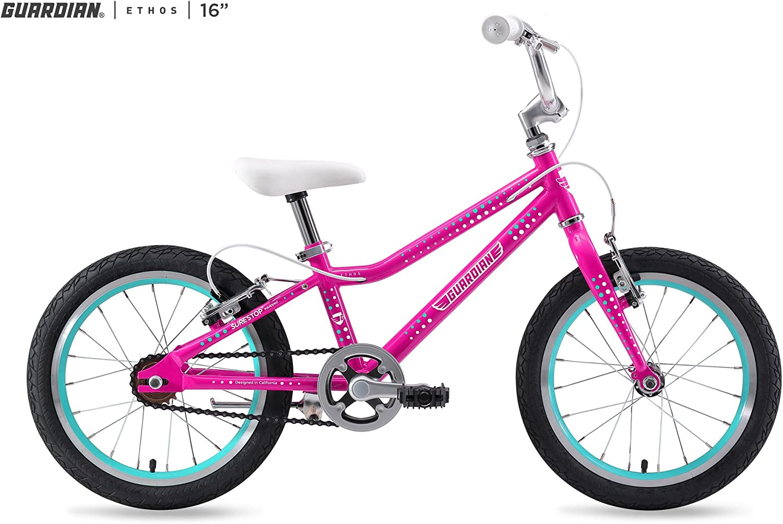 Guardian Kids Bikes Ethos. 16 20 24 Inch, Multiple Colors for Boys Girls. Safer Brake System for Kids. Lightweight Steel Construction. Easy Assembly. ASO SharkTank.