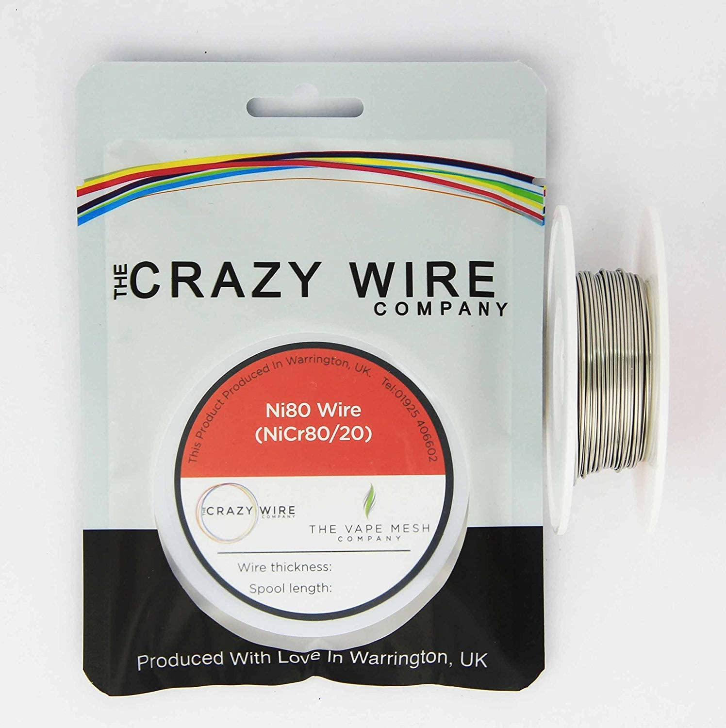 Round Resistance Wire 26 AWG 50 Metre 165 ft Spool Ni80 0.42mm Nichrome 7.87 ohms//m